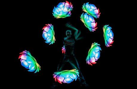 Lemmis LED-Show auf dem Eventschiff Ocean Diva